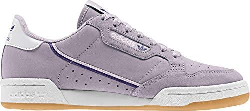 adidas Originals Women's Continental 80 Sneaker, Soft Vision/Collegiate Purple/Orchid Tint, 8 M US
