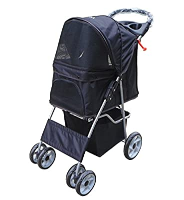 VIVO Four Wheel Pet Stroller, for Cat, Dog and More, Foldable Carrier Strolling Cart, Multiple Colors from Vivo
