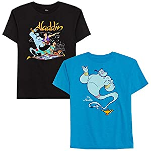 Disney Boys' Big 2 Pack of Aladdin Graphic T-Shirts