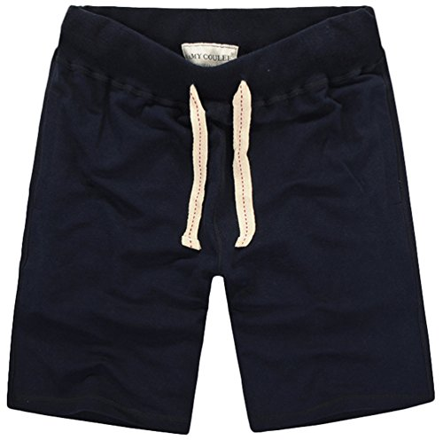 Mens 2-Pack Gym Cotton Shorts Classic Solid Casual Workout Shorts With Pockets Navy XXX-Large - Old Navy Classic Rise