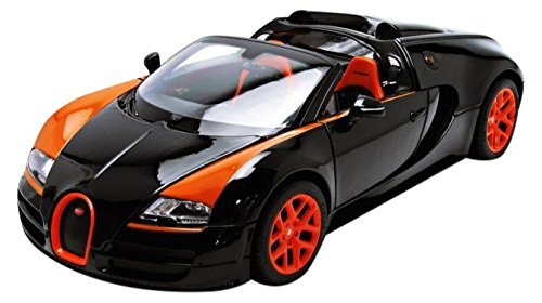 RASTAR 43900bk - Bugatti Veyron Grand Sport - 1: 18 Scale - Black/Orange B01GY6Q67E