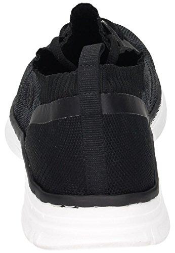 Rieker Herren B4890 Sneaker Schwarz (Schwarz-Grau/Schwarz/Schwarz/Schwarz)