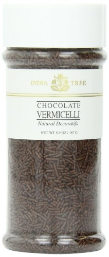 India Tree Chocolate Vermicelli, Natural, 5.9 oz