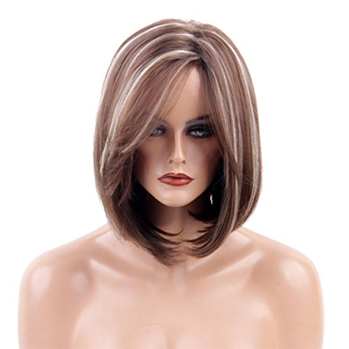 Half Life 2 Costumes Sale (Short Wigs, Inkach Women Girls Fake Hair Heat Resistant Cosplay Costume Synthetic Wigs (Brown))