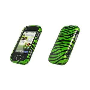Full Coverage Neon Green and Black Zebra Case for Motorola CLIQ XT