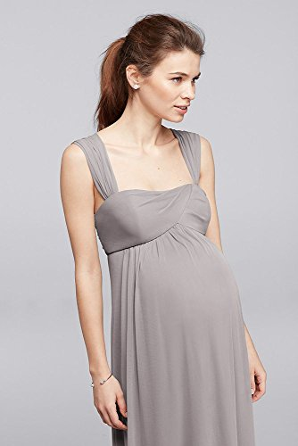 Mesh Empire Waist Maternity Bridesmaid Dress
