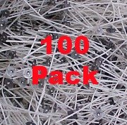 100 Pcs Heinz Self Trimming Cotton Paper Braided 7 Wicks Per 100 for Paraffin /& Soy Candles