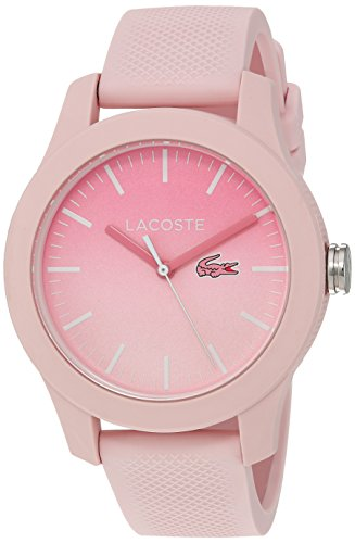 Lacoste Women's 'L.12.12.' Quartz Resin and Silicone Casual Watch, Color:Pink (Model: 2000988)