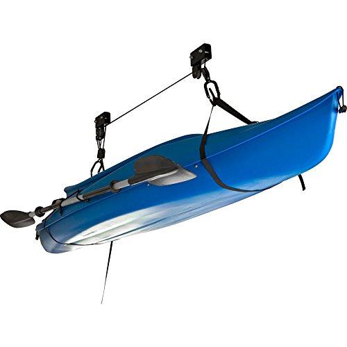 Apex BLC-1-1 Black Kayak Canoe and Bike Overhead Storage Hoist- 1 Pack