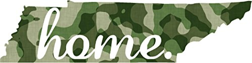 Tennessee #2 Home USA military camo print 7x3.2 inches america united states marine us coast guard navy seals air force pow mia color sticker state decal vinyl - Made and Shipped in USA