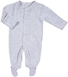 Kissy Kissy Essentials Stripe Footie - Grey-0-3 Months