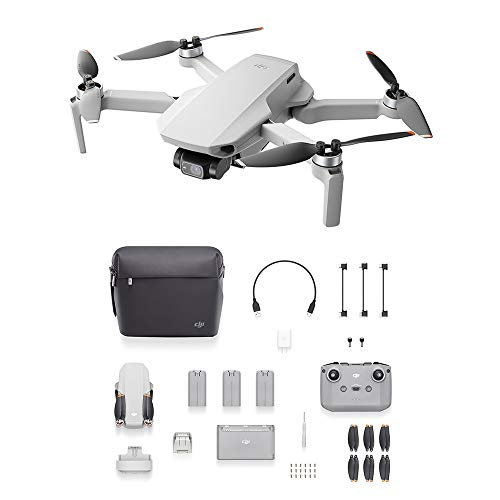 DJI Mini 2 Fly More Combo – Ultralight and Foldable Drone Quadcopter, 3-Axis Gimbal with 4K Camera, 12MP Photo, 31…