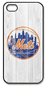 LZHCASE Personalized Protective Iphone 6 Plus (5.5 Inch)/MLB New York Mets in Wood Background