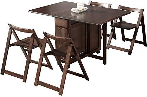Outdoor Folding Table And Chair Set Home Nordic Solid Wood Dining