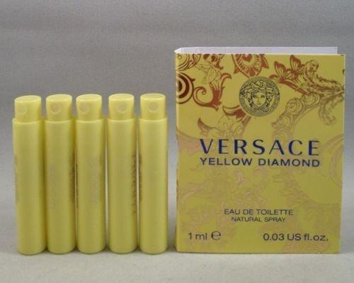 5 Versace Yellow Diamond Eau De Toilette 1 Ml/.03 Oz Spray Sample Vial Lot