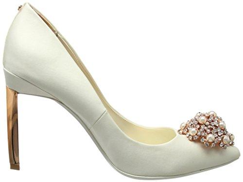 Para Baker Blanco Ted De 2 Peetch Zapatos Mujer Tacón Punta Cerrada Con ivory zxxqBdPT