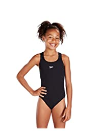Speedo Girls Endurance Plus Medalist Swimsuit in Black or Red (28, Black)