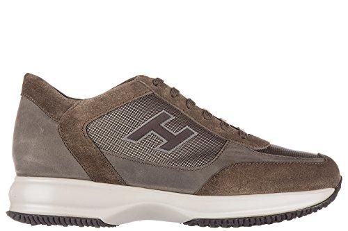 Hogan Uomo Scarpe Sneakers Scamosciate Scarpe Interattive H Flock Etichett
