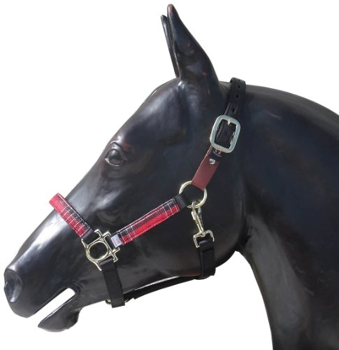 Kensington KPP Breakaway Halter Set with Padded Nose, Black with Deluxe Red Plaid, X-Large