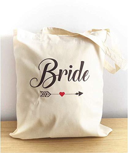 Idee Cadeau Evjf.Tote Bag Bride Future Mariee Et Evjf Cupidon Totebag
