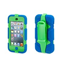 Survivor with belt clip for 5th gen. iPod touch, blue/green