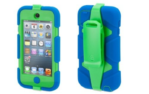 Griffin Blue/Green Survivor Case + Belt Clip for iPod touch (5th/ 6th gen.) - Extreme-duty case Griffin Technology GB35705
