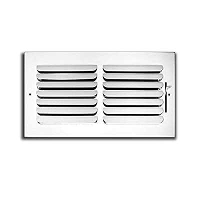 "10"" x 6"" - 1-Way Curved Blade Supply Air Grille - Maximum Air Flow - HVAC Vent Cover"