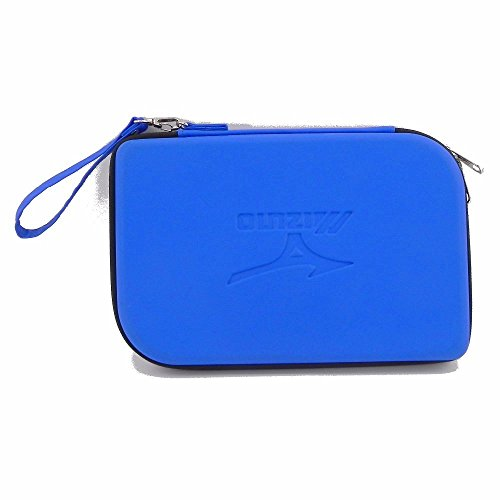 Blue Manufactory PU grid protective storage table tennis racket cover bag by nobrand