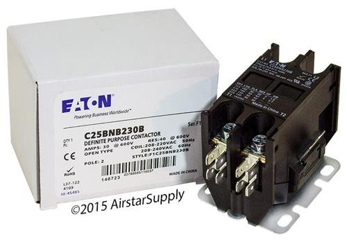 (EATON CUTLER HAMMER C25BNB230B CONTACTOR, DPST-NO, 240VAC, 30A, Panel)