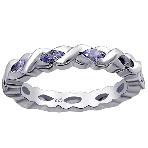 - 0.77 Ct Blue Marquise Iolite 925 Sterling Silver Ring For Women: Nickel Free Beautiful And Stylish Genuine Wedding Gift For Wife: Ring Size-9