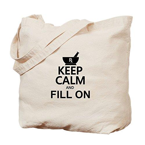 CafePress diseño de Keep Calm Fill de–gamuza de bolsa de lona bolsa, bolsa de la compra