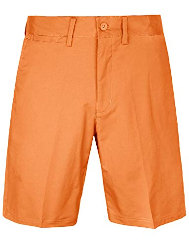 Bakery Men's Golf Shorts Relaxed Fit Cool Quick Dry Flat Front Tech Performance Chino Pants Size 30 Orange