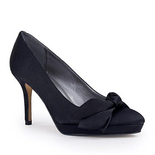 FARFALLA - Sandalias de vestir de Satén para mujer Negro - negro