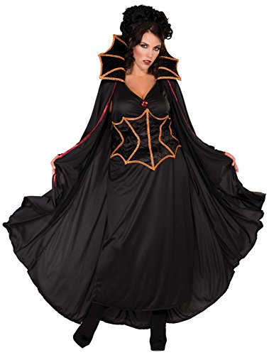 [Forum Novelties Women's Vampiress Costume, Black, Plus Size] (Black Full Cut Robe Costumes)