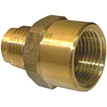 LASCO 17-5855 5/8-Inch Female Flare by 1/2-Inch Male Flare Brass Adapter