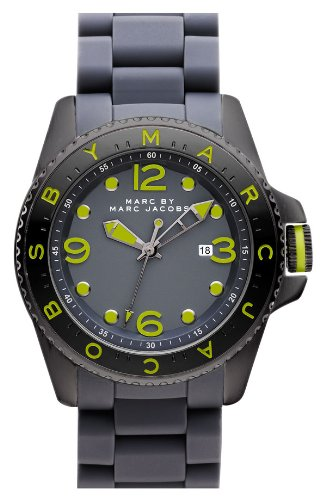 9166fa7a2aad Marc By Marc Jacobs Mbm2569 'Marc Diver' Lime/ Grey Watch: Amazon.ca:  Watches