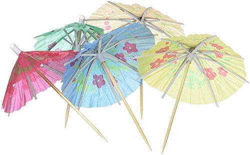 (Box of 144 Cocktail Drink Hawaiian Paper Parasol Umbrella)