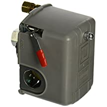 """Square D by Schneider Electric 9013FHG12J52M1X Air-Compressor Pressure Switch, 125 psi Set Off, 30 psi Fixed Differential, 1/4"""" NPSF Internal, 2-Way Release Valve, Auto/Off Cut-Out Lever"""