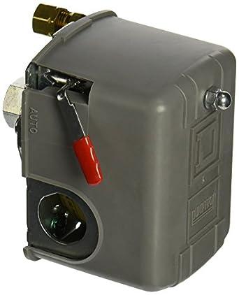 Square D By Schneider Electric 9013FHG12J52M1X Air Compressor Pressure  Switch, 125 Psi Set Off