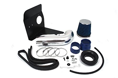 Velocity Concepts 4 Blue Heat Shield Cold Air Intake Kit Filter For 10-15 Chevrolet Camaro 6.2L V8