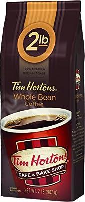 Tim Horton's 100% Arabica Medium Roast, Original Blend, Whole Bean Coffee, 2 pound Bag