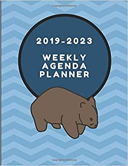 2019-2023 Weekly Agenda Planner: Wombat Themed Five Year