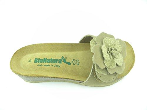 Bionatura Sandales pour Femme Beige Nabuk 35 EU Nabuk a3P5E