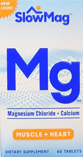 Slow-Mag Slow-Mag Magnesium Chloride With Calcium, 60 tabs (Pack of 3) Packaging may vary (Magnesium Chloride Tablets)