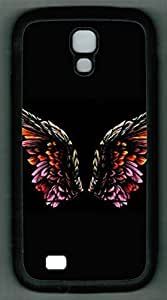 Samsung Galaxy S4 I9500 TPU Supple Shell Case Colorful Wing Black Skin by Sallylotus by runtopwell