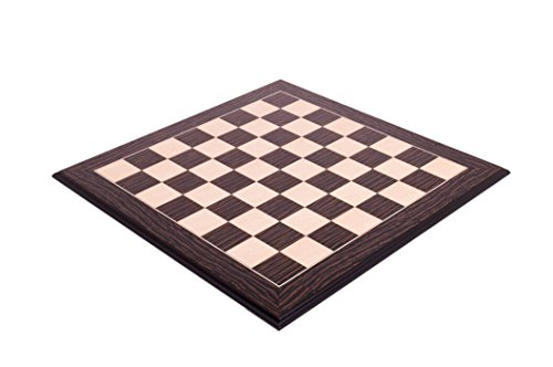 2.75' Fan (Tiger Ebony & Maple Standard Traditional Chess Board - 2.75