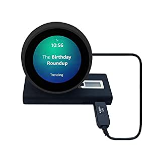 MERES 3ft / 1M USB Cord for Echo Dot (3rd Gen) - 5V USB to DC12v Power Cable for Echo spot, USB Power Bank Connect Cable for Amazon Echo Spot (Black for Echo Spot)