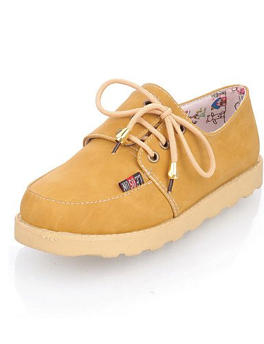 mujer eu35 Oxfords Rojo de Amarillo us8 Plano Marrón Zapatos uk6 cn39 brown brown Punta us8 cn34 Redonda eu39 hug us5 ZQ eu39 Tacón Semicuero Casual Azul uk3 brown uk6 cn39 8x6pwtqA