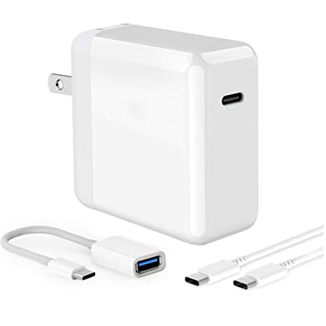 Amazon.com: Adaptador de alimentación USB C de 45 W PD ...