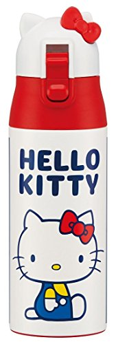 (Skater ultra-lightweight one-push stainless steel water bottle Magubotoru 360ml Hello Kitty Blue Square Sanrio stainless bottle SDPC4D)